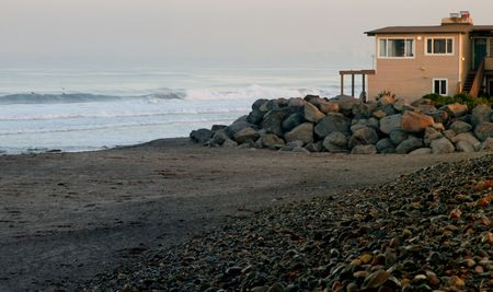 swell: Imperial Beach home overlooks an early morning west swell rolling in.