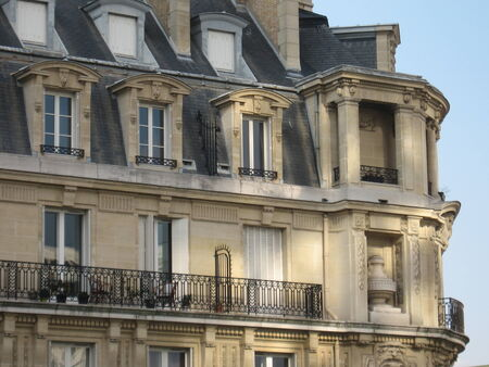 building sector: Apartments in Paris - Haussman architectural style Editorial