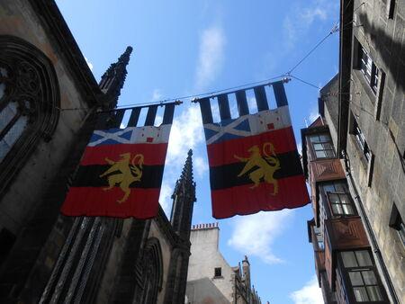 city coat of arms: Coat of arms in Edinburgh city center - Scotland