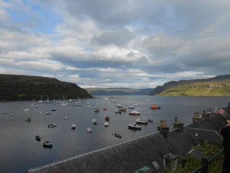 sailling: Portree seaport - Isle of Skye - Scotland