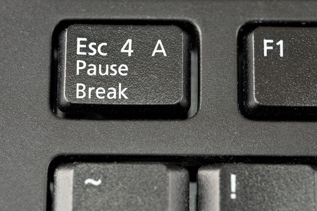 A funny keyboard key if you want to escape for a pause or break.