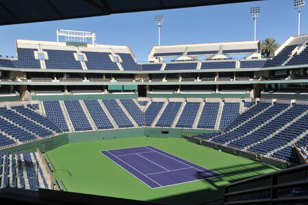 center court: The Center Court at the Indian Wells Tennis Garden Editorial