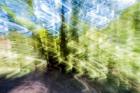 Image shot with a slow shutter and wiggling and panning the camera down