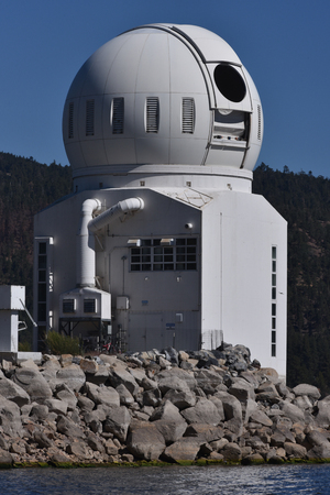 Big Bear Lake, California, June 16, 2016 � The Big Bear Solar Observatory with the lake level down 14 feet from normal.