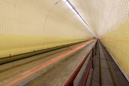The Robert C. Levy Tunnel, better know as the Broadway Tunnel in San Francisco