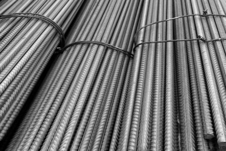 steel works: Steel rebar for construction works.