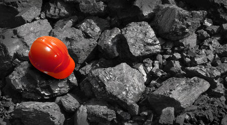 quarries: Coal production in mines and quarries. Stock Photo
