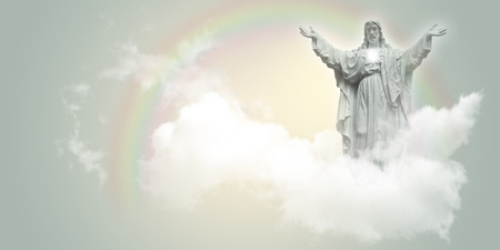 airiness: Jesus Christ in the clouds.