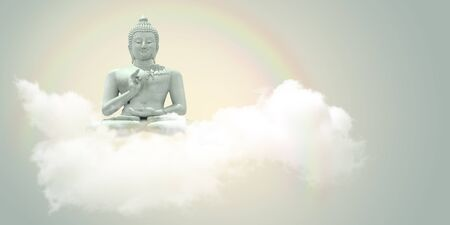 airiness: Sitting Buddha in the clouds.