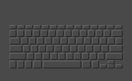 Modern background computer keyboard isolated on a gray background.