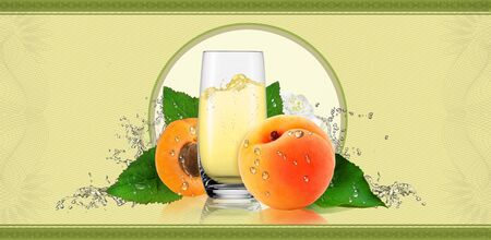 apricot: Label for apricot drink.