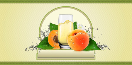 Label for apricot drink.