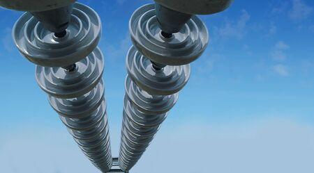 insulators: The insulators on the wires.