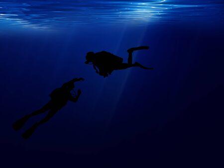 ダイビングの海。
