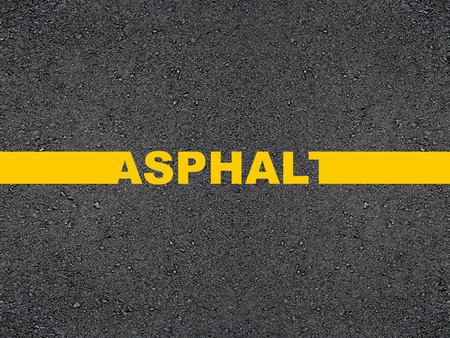 道路の碑文のアスファルト。 写真素材