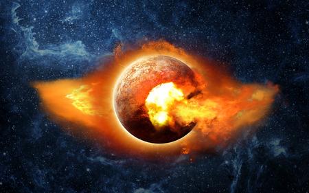 宇宙の惑星 X。
