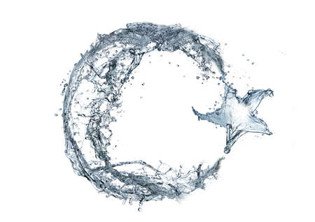 crescent: Crescent and water. Stock Photo