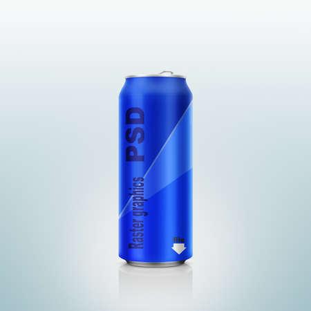 psd: Psd, fopmats, aluminium can.