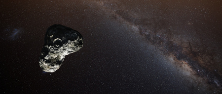 asteroid: Flight of an asteroid.