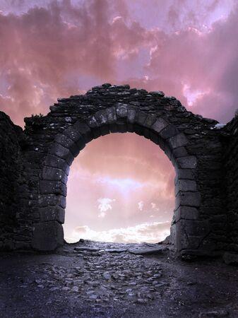stone arch: Stone arch. Stock Photo
