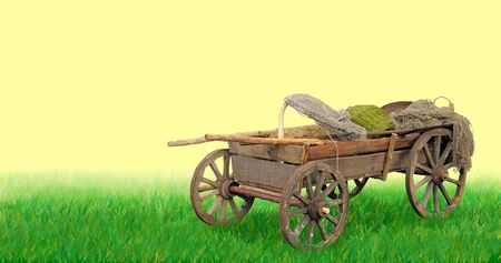 horse and cart: Rural cart for the horse.