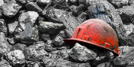石炭の抽出。 写真素材