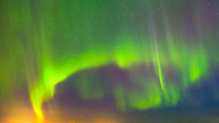 ionosphere: Northern lights in the night sky.