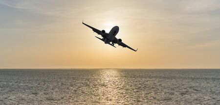 Air Travel by plane to the islands 写真素材