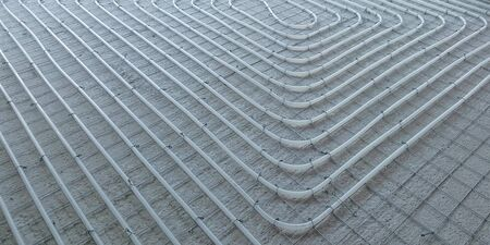 Installation system for floor heating in homes with a driving climate