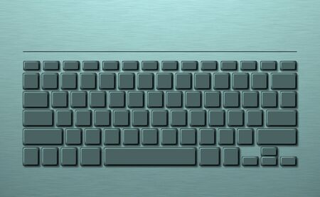 Metal keyboard with keys for laptops. Background 写真素材