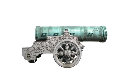 Tsar Cannon from the Moscow Kremlin. On an isolated white background. Reklamní fotografie