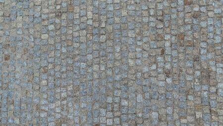 Textura de la carretera de adoquines rotos en Europa. Foto de archivo
