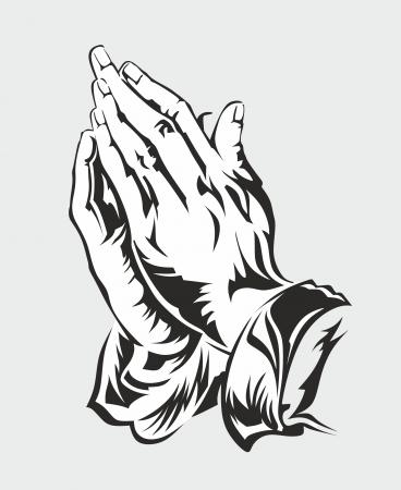 デューラーによって手を祈っての抽象的なイラスト