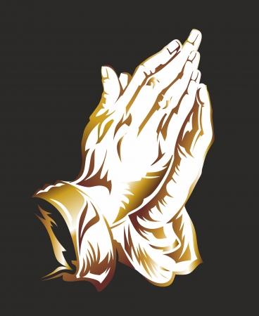 manos orando: ilustraci�n de fondo de manos orando por duerer Foto de archivo