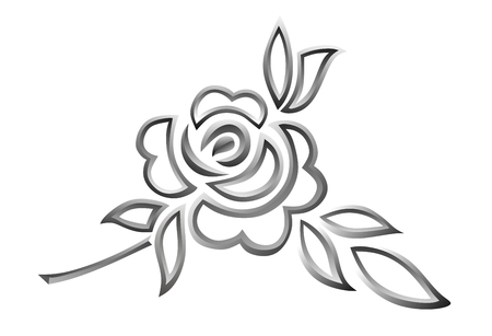 sepulcher: illustration of black and white rose with thorns