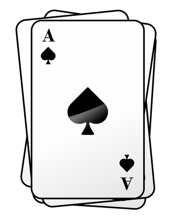 skat: an abstract illustration of different game cards Stock Photo