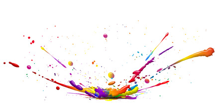eye catcher: abstract illustration of a colorful ink splash