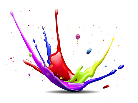 splash mixed: abstract illustration of a colorful ink splash