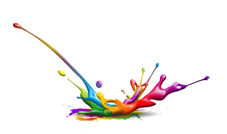 ink pot: abstract illustration of a colorful ink splash