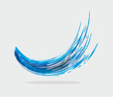 eye catcher: abstract illustration of a blue ink splash
