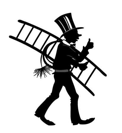 smut: stylized illustration of chimney sweeper with thumbs up