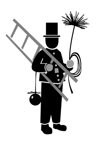 smut: simplified illustration of chimney sweeper at work