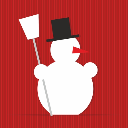 x mass: stylized illustration of a snowman with red nose
