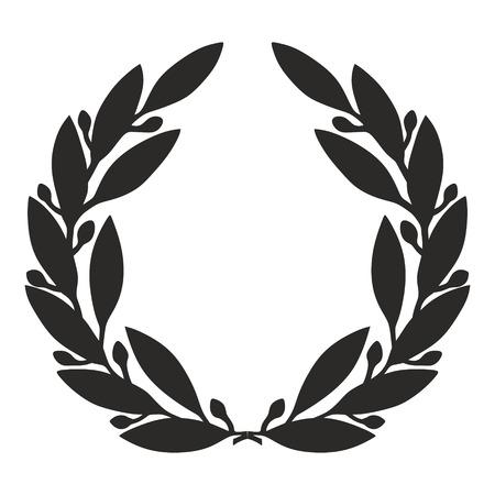 簡略化された月桂樹の花輪のイラスト 写真素材