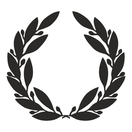 an illustration of a simplified laurel wreath illustration