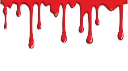 bloodstain: scary illustration of blood dripping on halloween