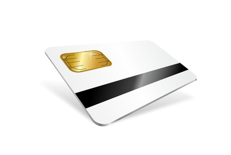 scamming: illustration of a chip card with magnetic strip
