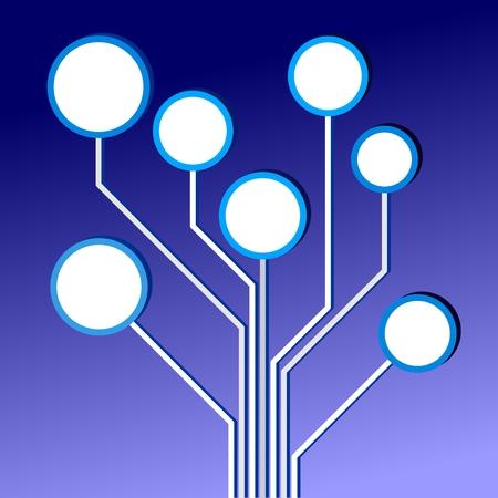 een illustratie van een kleurrijke elektrische schakeling