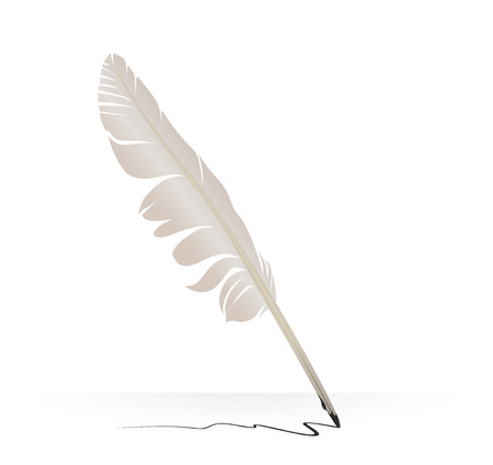 illustration of a goose quill used for writing