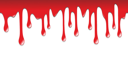 blood stain: illustration of blood dripping on the floor Stock Photo
